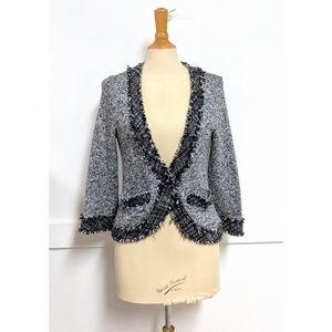 WHBM Black White & Silver Cardigan Sweater Medium
